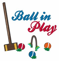Ball In Play embroidery design