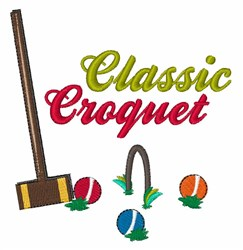 Classic Croquet embroidery design