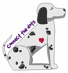 Connect The Dots embroidery design