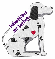 Darling Dalmations embroidery design