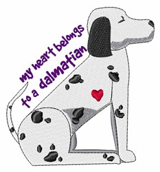 Dalmation embroidery design