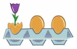 Flower And Eggs embroidery design