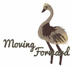 Moving Forward embroidery design