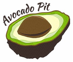 Avacado Pit embroidery design