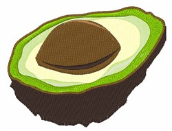 Avocado Half embroidery design