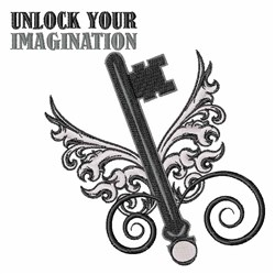 Unlock Imagination embroidery design