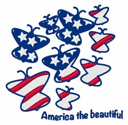 America the Beautiful embroidery design