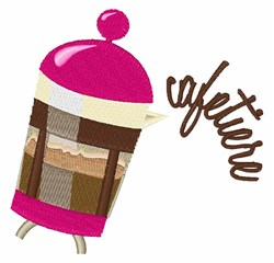 Cafetiere embroidery design