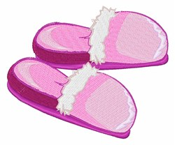 Pink Slippers embroidery design