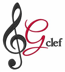 G-Clef embroidery design