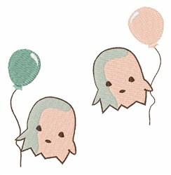 Balloon Floaties embroidery design