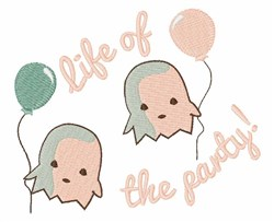 Life of the Party embroidery design