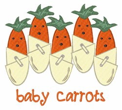 Baby Carrots embroidery design
