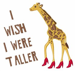 Wish I Was Taller embroidery design