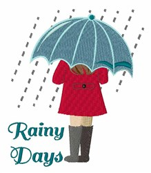 Rainy Days embroidery design
