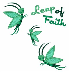 Leap of Faith embroidery design