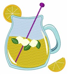 Pitcher of Lemonade embroidery design