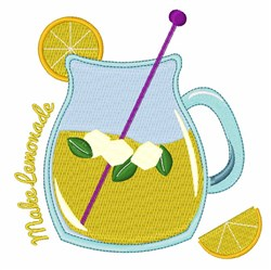 Make Lemonade embroidery design