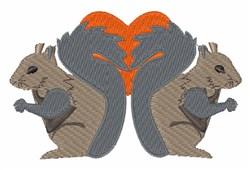 Squirrel Love embroidery design
