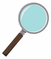 Magnifier embroidery design