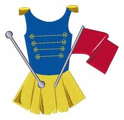 Majorette Uniform embroidery design