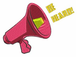 Be Heard embroidery design