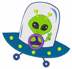 Space Alien embroidery design