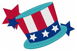 Patriotic Top Hat embroidery design