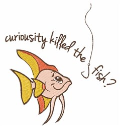 Curious Fish embroidery design