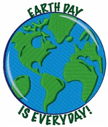 Earth Day Everyday embroidery design