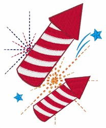 Roman Candles embroidery design