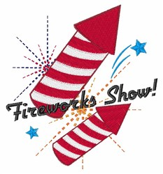 Fireworks Show! embroidery design