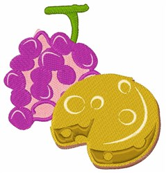 Grape Cheese embroidery design