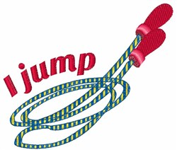 I Jump embroidery design