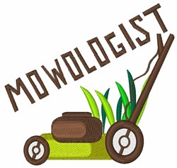 Mowologist embroidery design