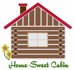 Home Sweet Cabin embroidery design