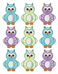 Owls embroidery design