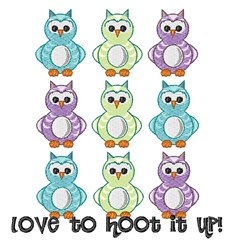 Hoot It Up embroidery design