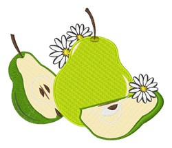 Pear Daisy embroidery design