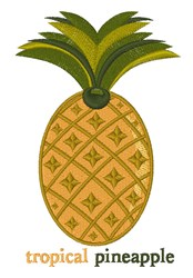 Tropical Pineapple embroidery design