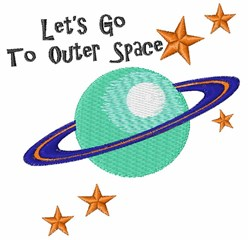 To Outer Space embroidery design