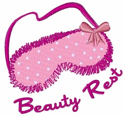 Beauty Rest embroidery design