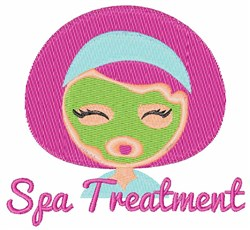 Spa Treatment embroidery design