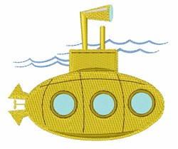Submarine embroidery design