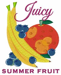 Juicy Fruit embroidery design