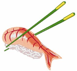 Sushi Meal embroidery design