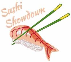Sushi Showdown embroidery design