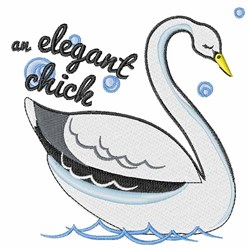 Elegant Chick embroidery design
