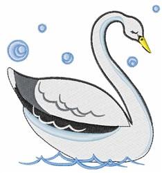 Pretty Swan embroidery design