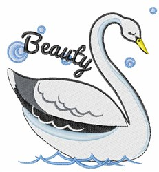 Swan Beauty embroidery design